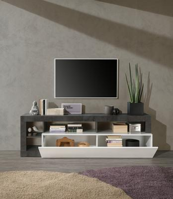 Florence Small TV Stand - White Gloss and Anthracite  Finish image 3