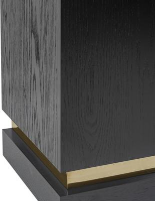 Belmond Black Wenge Oak Sideboard 2 Door with Brass Handles image 6