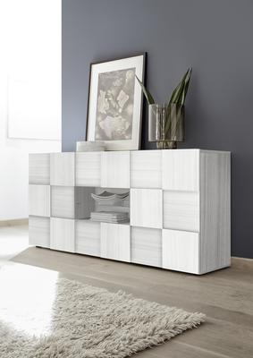 Treviso Two Door Two Drawer Sideboard- Silver Grey Finish