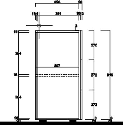 Treviso Three Door Sideboard- Silver Grey Finish image 3
