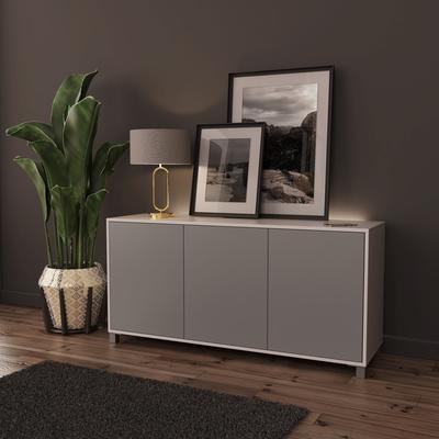 Frank Olsen LED Smart Click Sideboard - White and Grey  image 3