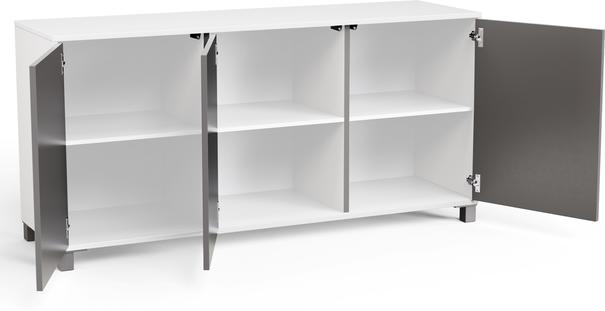 Frank Olsen LED Smart Click Sideboard - White and Grey  image 8