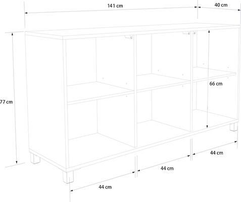 Frank Olsen LED Smart Click Sideboard - White and Grey  image 10
