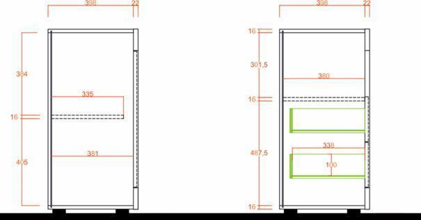 Como Two Door/Two Drawer Sideboard- Light Oak Finish image 3