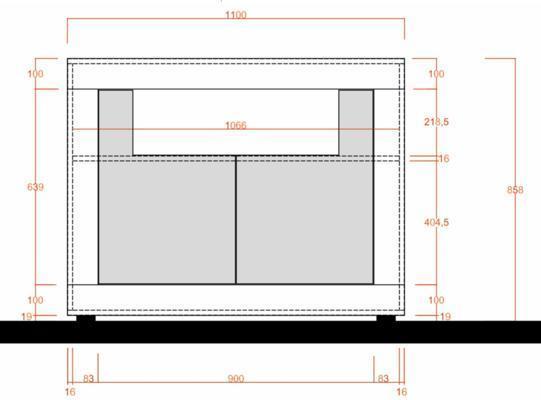 Como Two Door Sideboard - Light Oak  Finish image 2