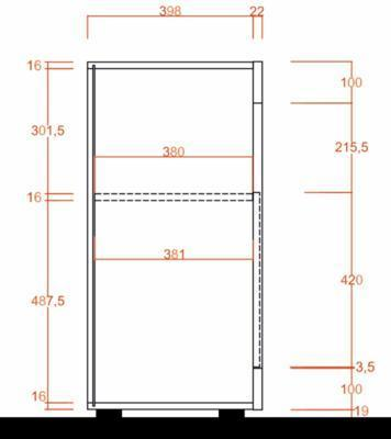 Como Two Door Sideboard - Light Oak  Finish image 3