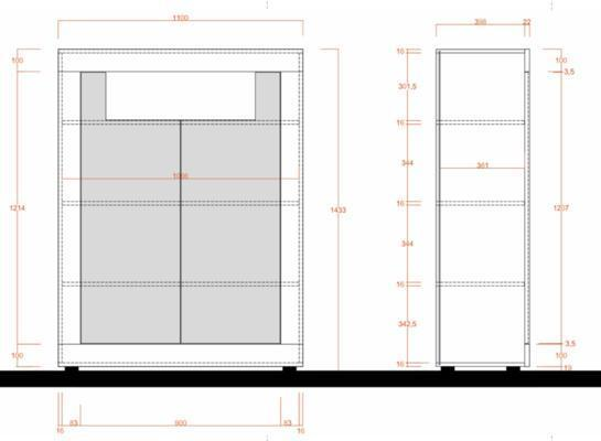 Como Two Door High Sideboard- Light Oak Finish image 2