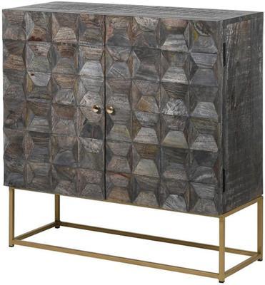 Holborn Geo Two Door Storage Cupboard Retro Design