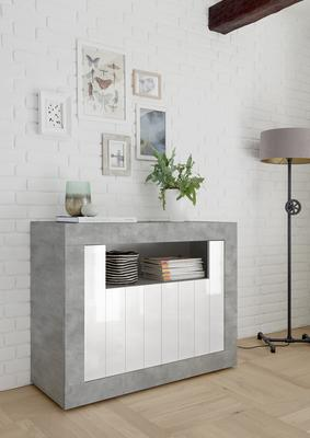 Como Two Door Sideboard - Grey and Gloss White Finish image 2
