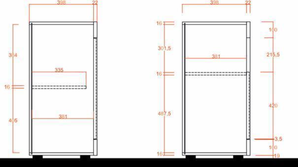 Como Three Door Sideboard - Grey and Gloss White Finish image 4