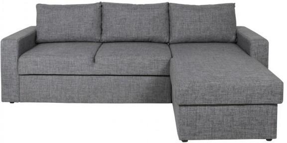 Delaware Lux Modern Sofa Bed Corner Chaise Grey