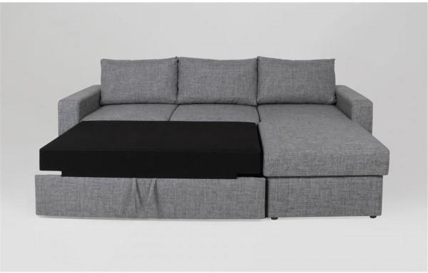 Delaware Lux sofa bed chaise image 3