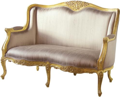 Gold French Settee Distressed