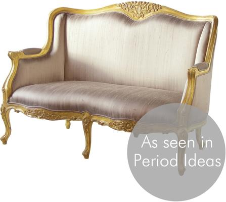 Gold French Settee Distressed image 3