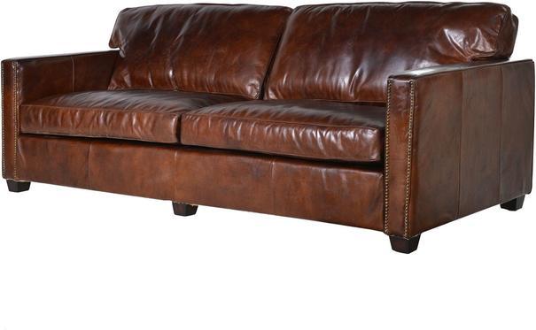 Vintage Leather Manhattan Three Seater Sofa