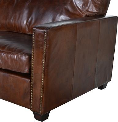 Vintage Leather Manhattan Three Seater Sofa image 2