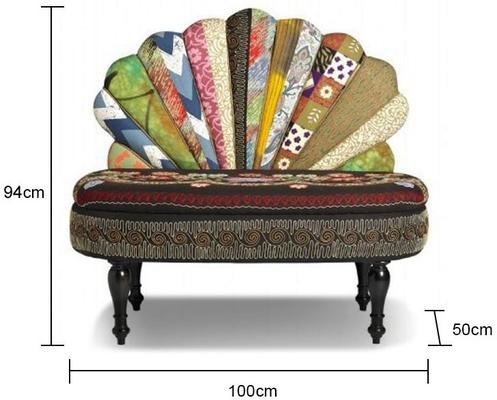Peacock Patchwork Sofa image 2