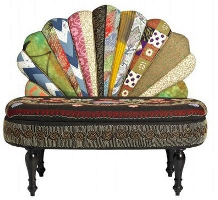 Peacock Patchwork Sofa image 4