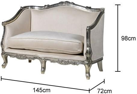 French 2 Seater Settee image 2