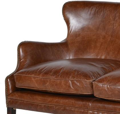 Havana Brown Leather Two Seater image 2