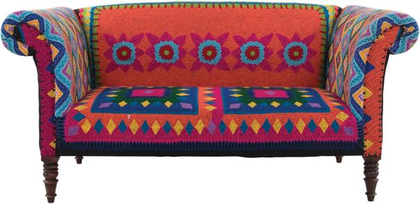 Mexican Embroidered Sofa Multicolour image 2