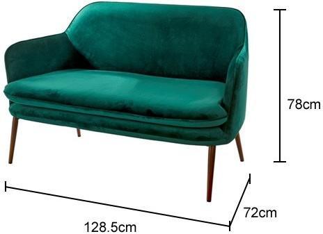 Charmy Retro Velvet Sofa image 2
