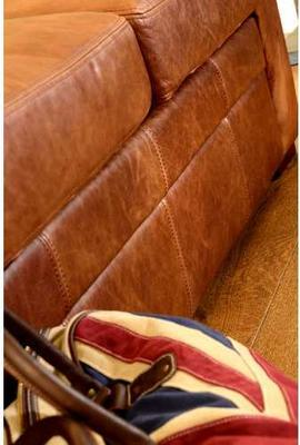 Seattle Three Seater Sofa Vintage Leather or Fabric image 3