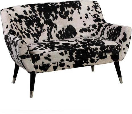 Faux Cowhide Sofa Brown and White Dalmatian Patterm image 3
