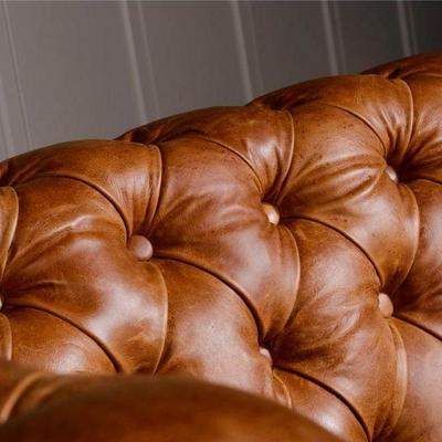 Caesar Two Seater Chesterfield Leather Buttoned image 9