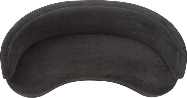 Pimlico Curved 3 Seater Velvet Sofa Black or Beige image 9