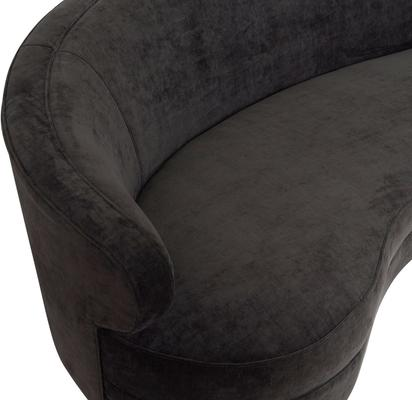 Pimlico Curved 3 Seater Velvet Sofa Black or Beige image 10