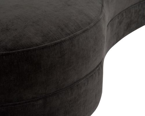 Pimlico Curved 3 Seater Velvet Sofa Black or Beige image 12
