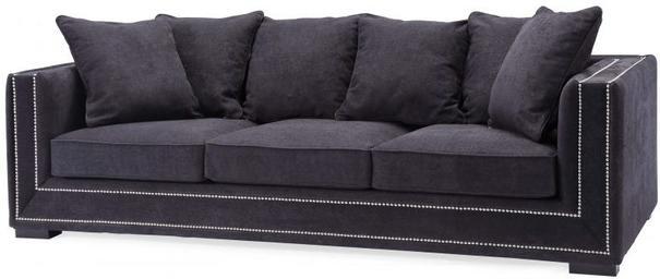 Meridien 3 Seater Sofa Beige Chenille Fabric image 2