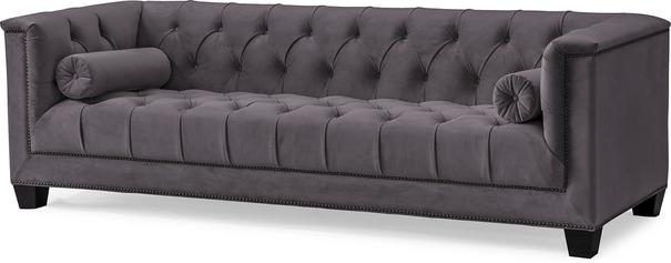 Monroe 3 Seater Buttoned Sofa Blue or Grey