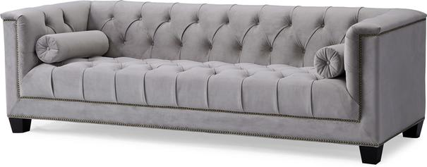 Monroe 3 Seater Buttoned Sofa Blue or Grey image 9