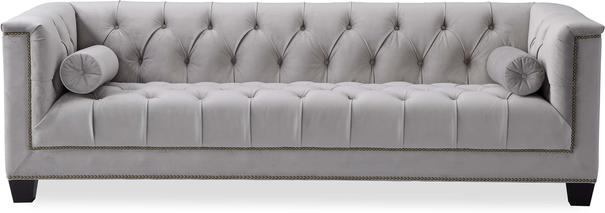 Monroe 3 Seater Buttoned Sofa Blue or Grey image 10