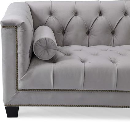 Monroe 3 Seater Buttoned Sofa Blue or Grey image 11