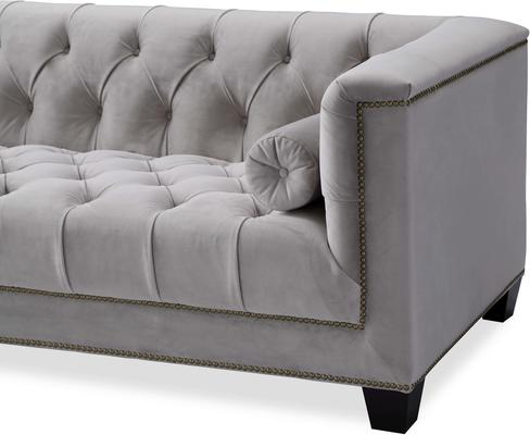 Monroe 3 Seater Buttoned Sofa Blue or Grey image 12