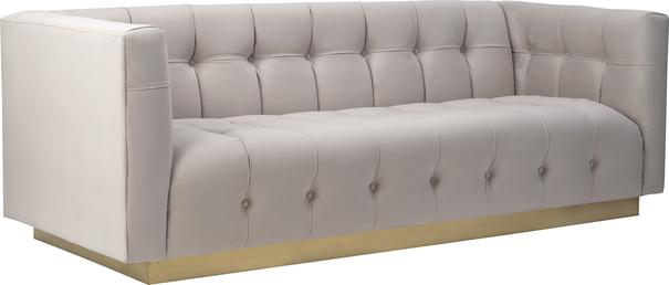 Webster Contemporary Sofa Buttoned Velvet - Grey or Blue image 2
