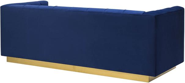 Webster Contemporary Sofa Buttoned Velvet - Grey or Blue image 5