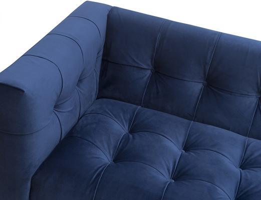 Webster Contemporary Sofa Buttoned Velvet - Grey or Blue image 6