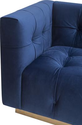 Webster Contemporary Sofa Buttoned Velvet - Grey or Blue image 7