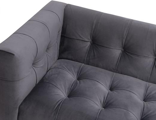 Webster Contemporary Sofa Buttoned Velvet - Grey or Blue image 12