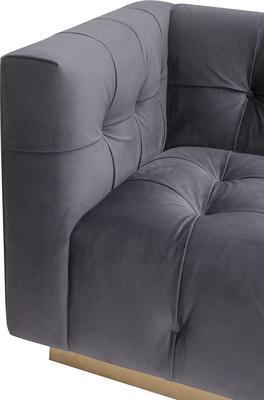 Webster Contemporary Sofa Buttoned Velvet - Grey or Blue image 13