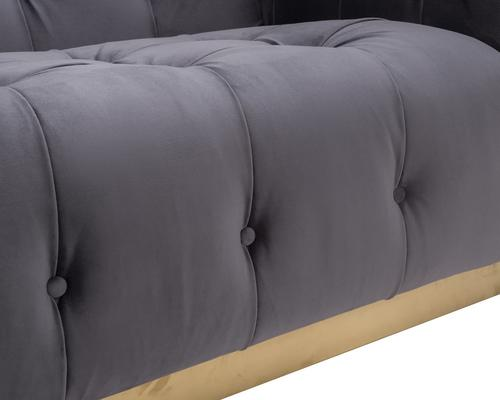 Webster Contemporary Sofa Buttoned Velvet - Grey or Blue image 14