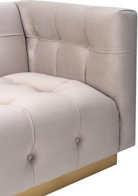 Webster Contemporary Sofa Buttoned Velvet - Grey or Blue image 15