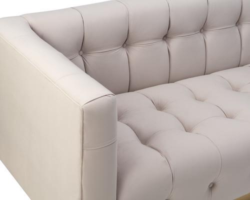 Webster Contemporary Sofa Buttoned Velvet - Grey or Blue image 16