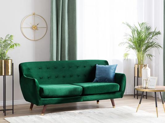 Bodo Contemporary Sofa - 3 Seat Dark Grey Buttoned image 12