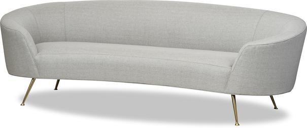 Lazy Minimalist Velvet or Linen Sofa