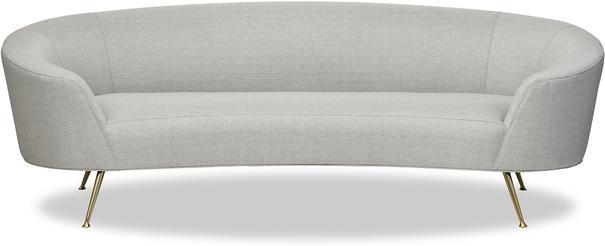 Lazy Minimalist Velvet or Linen Sofa image 2